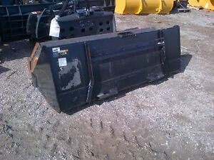 """78"""" Skid Steer Utility Bucket with Cutting Edge"""