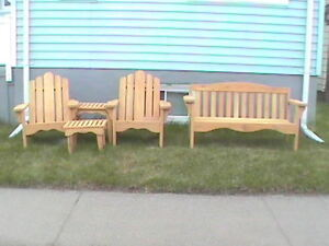 5 PIECE CEDAR PATIO SET