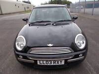 MINI COOPER 1.6 HATCHBACK 03 REG,, NICE CLEAN MINI FOR YEAR,, MOT JUNE 28TH 2019
