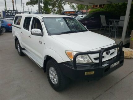 2006 Toyota Hilux GGN25R MY07 SR5 White Automatic Utility Lansvale Liverpool Area Preview