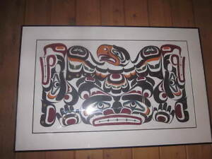 Signed Original painting by the late First Nations artist Mark H
