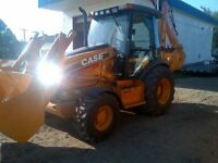 Backhoe for work