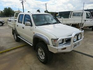 2001 Toyota Hilux KZJ95R SR5 White 5 Speed Manual Dual Cab Reynella Morphett Vale Area Preview