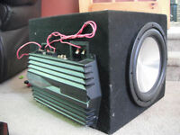 DUAL Competition Eclipse Car Subs, In MDF box, with Sony AMP