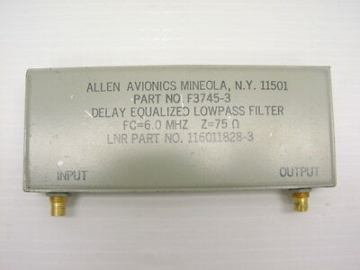 Allen Avionics F3745-3 Delay Equalized Lowpass Filter