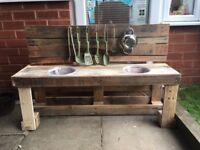 Reclaimed Pallet Wood Mud Kitchens