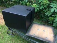motorcycle scooter pizza delivery top box with base mounting plate