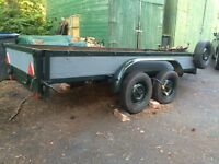 4' x 10' Twin Axel Trailer, Braked with lights. Smooth roller.