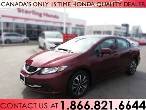 2014 Honda Civic EX | 1 OWNER | NO ACCIDENTS | LOW KM'S