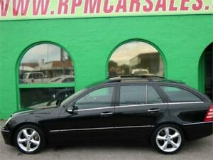 2004 Mercedes-Benz C200 W203 Upgrade Kompressor Elegance Obsidian Black 5 Speed Auto Tipshift Wagon Nailsworth Prospect Area Preview
