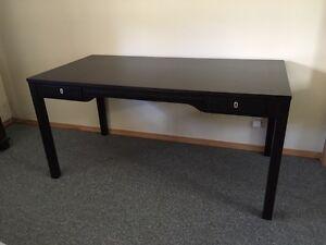 Dark Espresso Desk with matching office chair