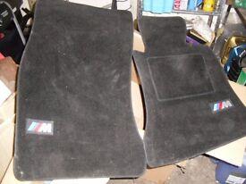 "bmw 5 series,e60/61 front car mats mint with ""m"" logo"