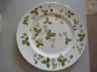Two Wedgwood dinner plates - Wild Strawberry design