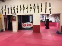 Fully matted area for hire during day and weekends. Can be used for fitness, party hire etc