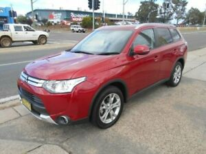 2015 Mitsubishi Outlander ZJ MY14.5 LS 4WD Red 6 Speed Constant Variable Wagon