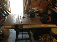 "Delta 10"" table saw, belt drive w/ unifence"