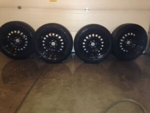 Tires and steel rims, 275/55R20