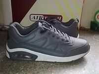 Mens AIR TECH Trainers Grey UK Sizes 8 -- NEW