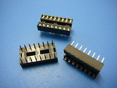 Robinson Nugent Icb-163-s8a-t Ic Socket 16-pin Dip New Qty.3