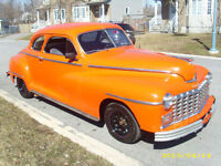 1948 Dodge Deluxe Coupe Street Rod, All Steel Body