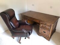 Executive office desk and chair