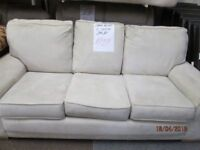 ***BARGAIN+TO CLEAR TODAY+COLLECTION ONLY 3 SEATER SUEDE CREAM SOFA+GOOD CONDITION***