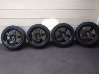"""18"""" Lenso alloy wheels with tyres"""