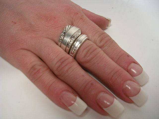 "$""SPOON RING BENDER"" Make Rings-Silver,Gemstone Beads,Wire,Craft,Vintage Jewelry"