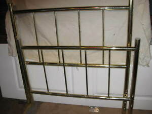Brass head and foot board for twin (single) bed.......new