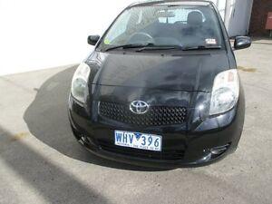 2005 Toyota Yaris NCP90R YR Black 4 Speed Automatic Hatchback Tottenham Maribyrnong Area Preview