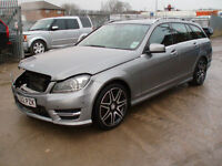 Mercedes-Benz C250 2.1CDI 7G-Tronic Plus CDI AMG Sport Plus 2012 DAMAGED SALVAGE