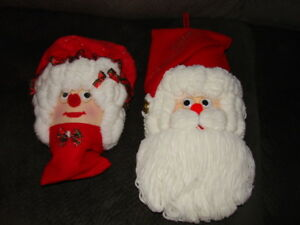 Homemade Mr. and Mrs. Claus Wall Accents