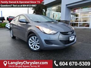 2013 Hyundai Elantra GL *ACCIDENT FREE*ONE OWNER*LOCAL BC CAR*