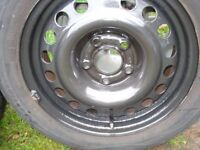 OFFERS?VAUXHALL MERIVA,COMBO, ZAFIRA A, WHEELS AND TYRES 15 INCH, ET43, 185.60.15, 5 STUD - CHESHIRE