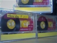 MEMOREX DBS1 / DBSI 90 (1991-1992) YELLOW ISSUE CASSETTE TAPES.