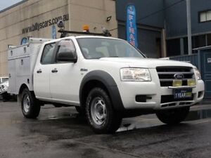 2008 Ford Ranger PJ 07 Upgrade XL (4x4) White 5 Speed Manual Dual Cab Pick-up Condell Park Bankstown Area Preview