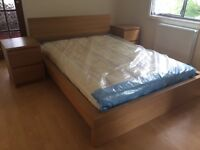 Beautiful Double bed & two bedside tables