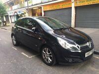 Black Vauxhall Corsa 1.4 SXI 16V, small city car 3 door