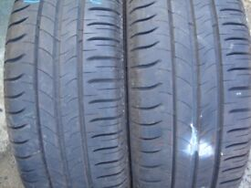 Partly worn tyres that I used for maybe 1 week and then bought new ones Michelin 195/55R16