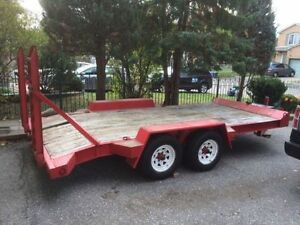 2006 Custom Tandem Float Trailer Dexter 6000lbs axles 7x16 Feet
