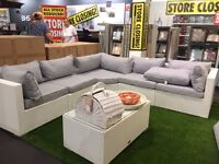 BHS GARDEN FURNITURE £595. USED ONCE. RETAILED AT £2500. BOUGHT FOR £700