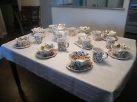 """""""Rose Prairie""""  hand painted collection dishes"""