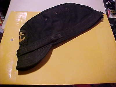 WW2 JAPANESE NAVAL SHIP BOARD CAP HARD TO FIND BLACK