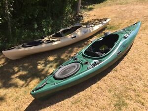 Riot Edge 11 ft fishing kayak in green or camo $100 off !