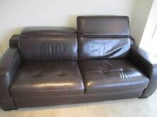 Brown 2 Seater Leather Lounge Ryde Ryde Area Preview