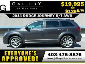 2014 Dodge Journey R/T AWD $139 BI-WEEKLY APPLY NOW DRIVE NOW