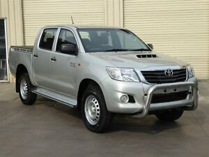 2014 Toyota Hilux KUN26R MY14 SR (4x4) Silver 5 Speed Automatic Dual Cab Pick-up Strathpine Pine Rivers Area Preview