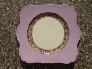 Royal Winton Cake Plate Purple and Floral Pattern C1929