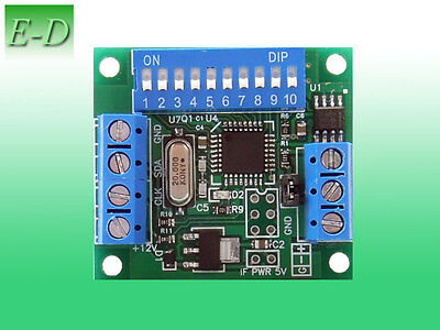 DMX 512 SPI decoder to WS 2801, led controller to WS2801 IC, miniDMX 2801 1.0