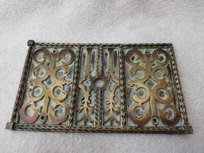 ANTIQUE HEAVY BRASS DOOR PLATE